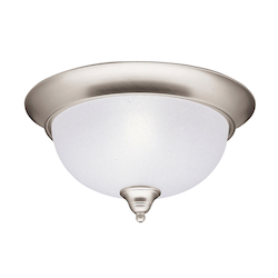 Kichler Brushed Nickel Phoebe 2 Light Flush Mount Indoor Ceiling Fixture