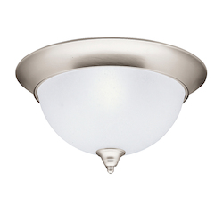 Kichler Brushed Nickel Dover 3 Light Flush Mount Indoor Ceiling Fixture