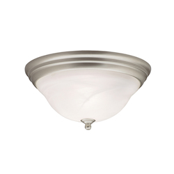Kichler Brushed Nickel Telford 2 Light Flush Mount Indoor Ceiling Fixture