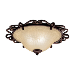 Kichler Carre Bronze Wilton 2 Light Flush Mount Indoor Ceiling Fixture