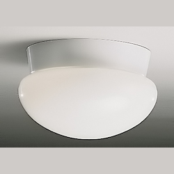 Kichler One Light White Mushroom Flush Mount