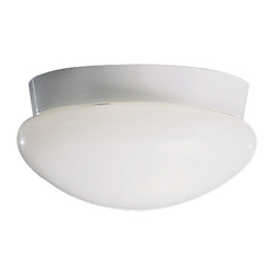 Kichler Two Light White Mushroom Flush Mount