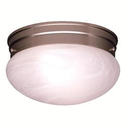 Kichler Brushed Nickel 1 Light Flush Mount Ceiling Fixture - Package Of 12
