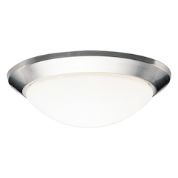 Kichler Brushed Nickel Ceiling Space 1 Light Flush Mount Indoor Ceiling Fixture