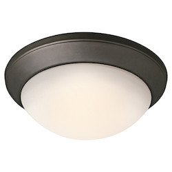 Kichler One Light Olde Bronze Bowl Flush Mount