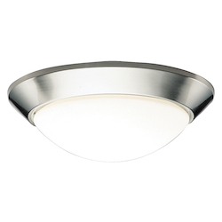 Kichler Brushed Nickel Spires 2 Light Flush Mount Indoor Ceiling Fixture