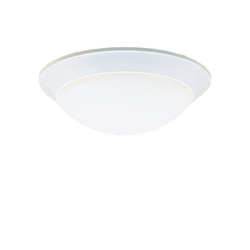 Kichler Two Light White Bowl Flush Mount