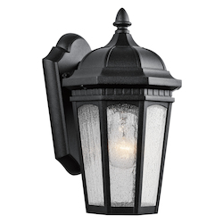 Kichler One Light Textured Black Wall Lantern
