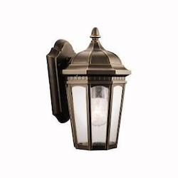 Kichler Rubbed Bronze Courtyard Collection 1 Light 11In. Outdoor Wall Light