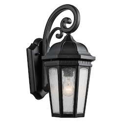 Kichler One Light Textured Black Hanging Lantern