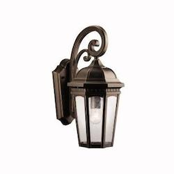 Kichler Kichler 9033Rz Rubbed Bronze Courtyard Collection 1 Light 18