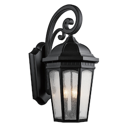 Kichler Three Light Textured Black Wall Lantern