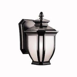 Kichler Black Salisbury Collection 1 Light 10In. Outdoor Wall Light