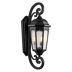 Kichler Three Light Textured Black Hanging Lantern