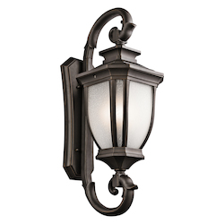 Kichler Four Light Rubbed Bronze Wall Lantern