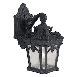Kichler Black Tournai Collection 1 Light 11In. Outdoor Wall Light