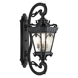 Kichler Black Tournai Collection 4 Light 46In. Outdoor Wall Light