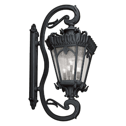 Kichler Black Tournai Collection Extra Large 5 Light 70In. Outdoor Wall Light