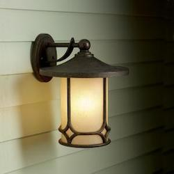 Kichler Aged Bronze Chicago Collection 1 Light 15In. Outdoor Wall Light