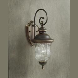 Kichler Olde Bronze Sausalito Collection 1 Light 20In. Outdoor Wall Light