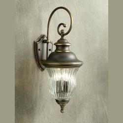 Kichler Olde Bronze Sausalito Collection 3 Light 24In. Outdoor Wall Light