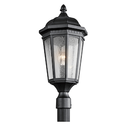 Kichler Black Courtyard 1 Light Outdoor Post Light