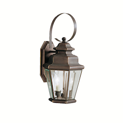 Kichler Olde Bronze Savannah Estates Collection 2 Light 19In. Outdoor Wall Light