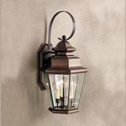 Kichler Olde Bronze Savannah Estates Collection 3 Light 25In. Outdoor Wall Light