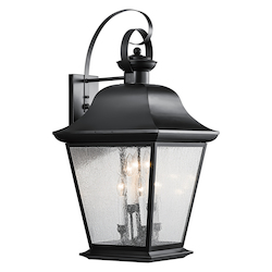 Kichler Black Mount Vernon Collection 6 Light 33In. Outdoor Wall Light