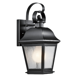 Kichler Black Mount Vernon Collection 1 Light 13In. Outdoor Wall Light