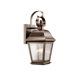 Kichler One Light Olde Bronze Wall Lantern
