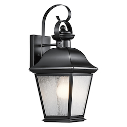 Kichler Kichler 9708Bk Black Mount Vernon Collection 1 Light 17
