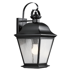 Kichler Kichler 9709Bk Black Mount Vernon Collection 1 Light 20
