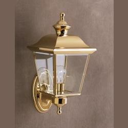 Kichler Polished Brass Lifetime Finish Bay Shore 1 Light 16In. Outdoor Wall Light
