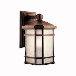 Kichler Prairie Rock Cameron Collection 1 Light 18In. Outdoor Wall Light