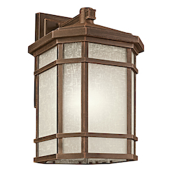 Kichler Prairie Rock Cameron Collection 1 Light 21In. Outdoor Wall Light