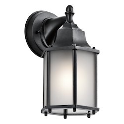 Kichler Black Chesapeake Collection 1 Light 10In. Outdoor Wall Light