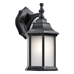 Kichler Black Chesapeake Collection 1 Light 12In. Outdoor Wall Light