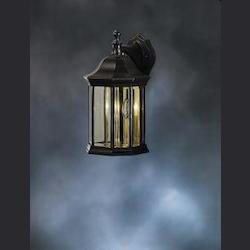 Kichler Black Chesapeake Collection 3 Light 15In. Outdoor Wall Light
