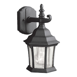 Kichler Black Townhouse Collection 1 Light 12In. Outdoor Wall Light