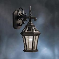 Kichler Black Townhouse Collection 1 Light 15In. Outdoor Wall Light
