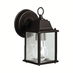 Kichler Black Barrie Collection 1 Light 9In. Outdoor Wall Light