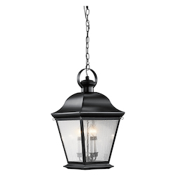 Kichler Black Mount Vernon 4 Light Outdoor Pendant