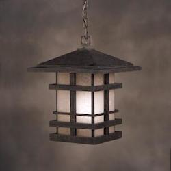Kichler Aged Bronze 1 Light Outdoor Pendant From The Cross Creek Collection
