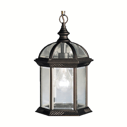 Kichler Black 1 Light Outdoor Pendant From The Barrie Collection