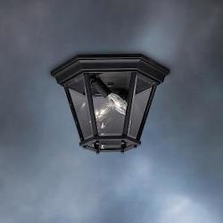 Kichler Black 2 Light Outdoor Ceiling Fixture From The Madison Collection