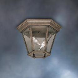 Kichler Two Light Tannery Bronze Outdoor Flush Mount