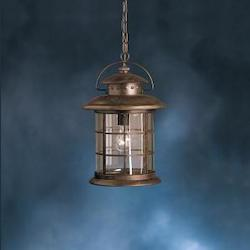 Kichler Rustic 1 Light Outdoor Pendant From The Rustic Collection