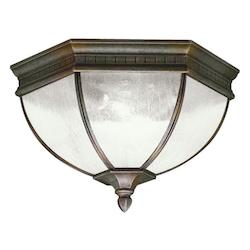 Kichler Tannery Bronze 2 Light Outdoor Ceiling Fixture From The Warrington Collection