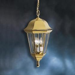 Kichler Polished Brass Lifetime Finish Grove Mill Outdoor Pendant
